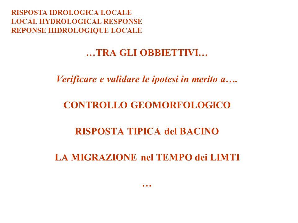 CONTROLLO GEOMORFOLOGICO GEOMORPHOLOGICAL CONTROL CONTROLLE GEOMORPHOLOGIQUE ITALIA FIUME TEVERE