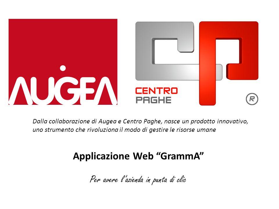 Applicazione Web GrammA Per avere lazienda in punta di clic Dalla collaborazione di Augea e Centro Paghe, nasce un prodotto innovativo, uno strumento
