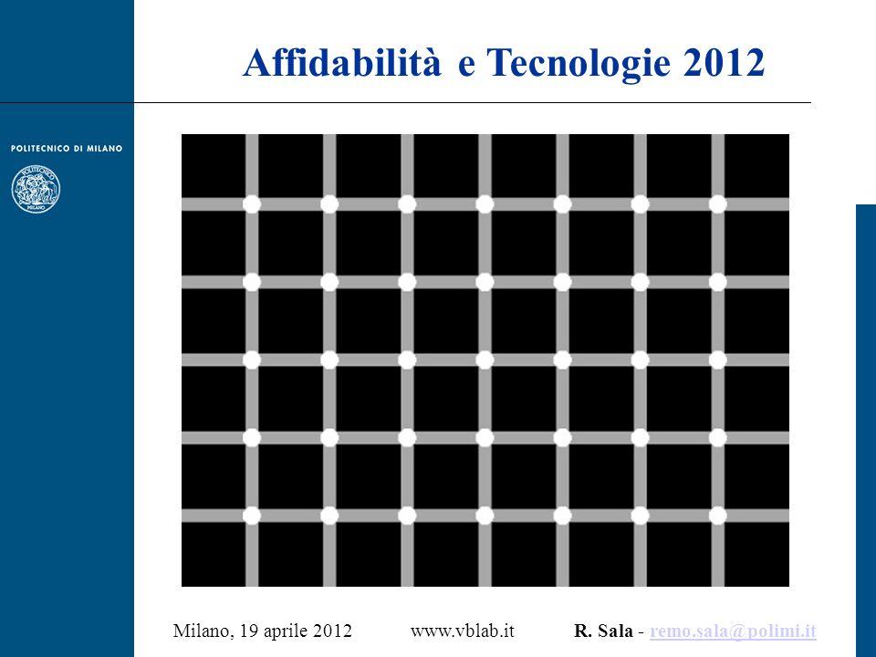 Milano, 19 aprile 2012 www.vblab.it R. Sala - remo.sala@polimi.itremo.sala@polimi.it Affidabilità e Tecnologie 2012