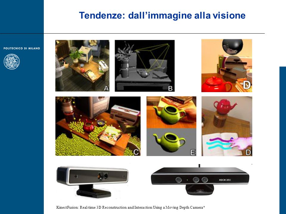 Tendenze: dallimmagine alla visione KinectFusion: Real-time 3D Reconstruction and Interaction Using a Moving Depth Camera*