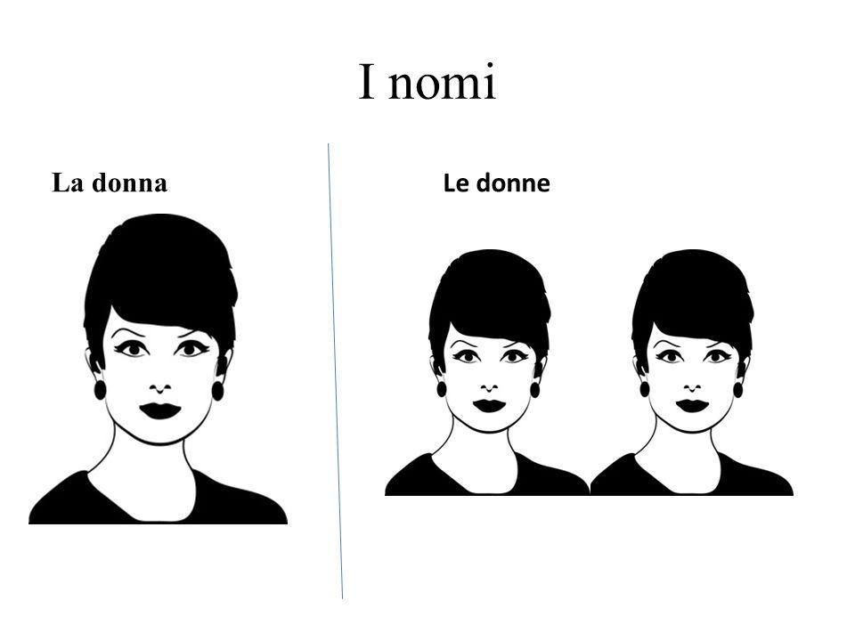 I nomi La donna Le donne