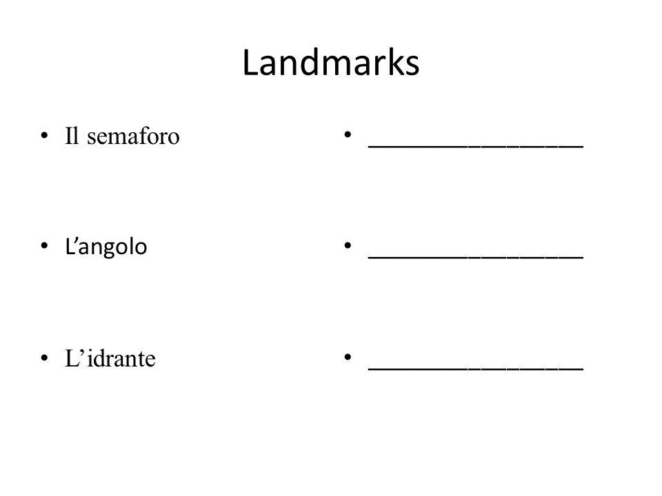 Landmarks Il semaforo Langolo Lidrante _________________