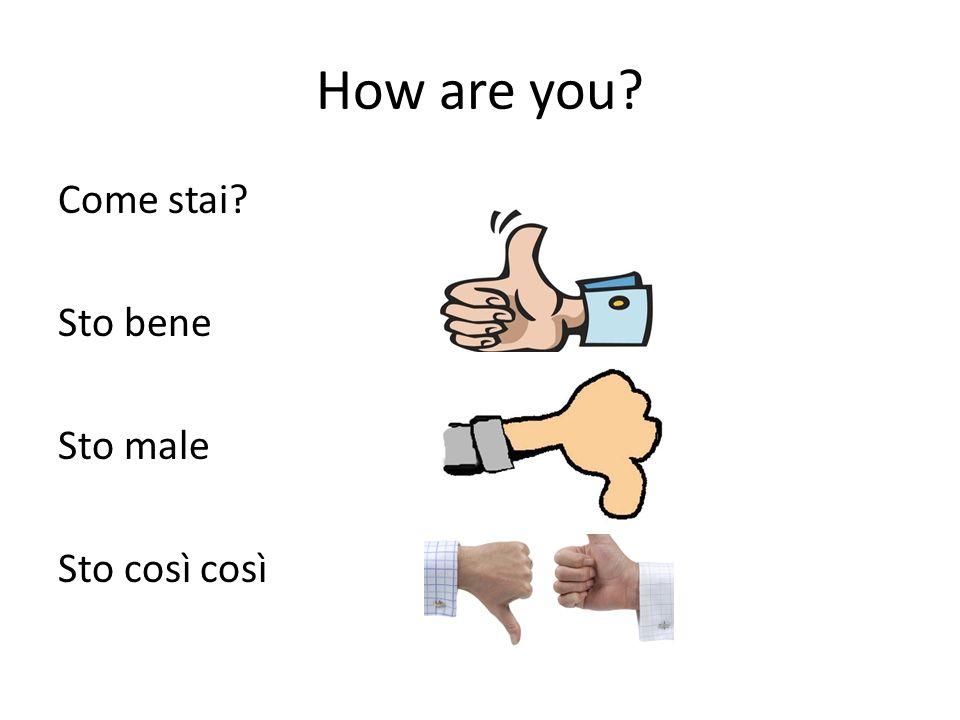 Ripasso: Risponde alle domande: Come ti chiami? Dove abiti? Come stai?