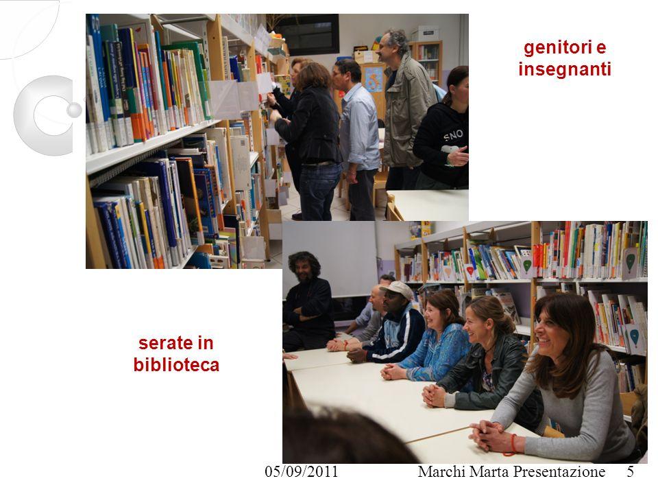 05/09/2011Marchi Marta Presentazione genitori e insegnanti 5 serate in biblioteca