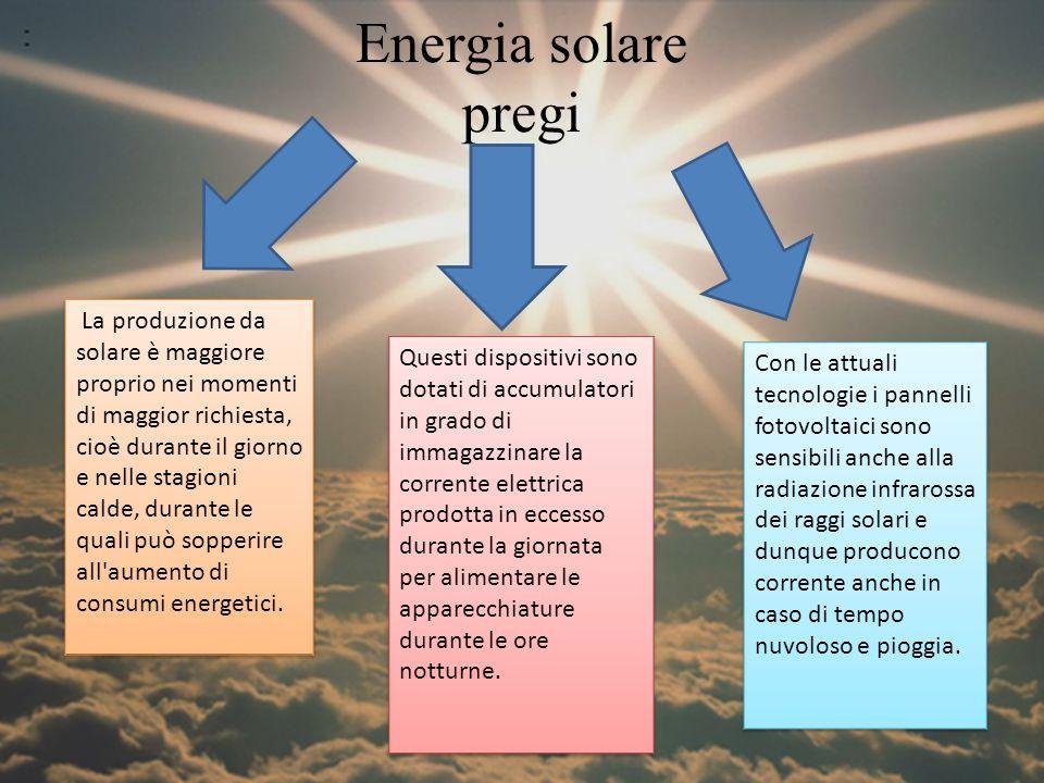 Energia solare pregi