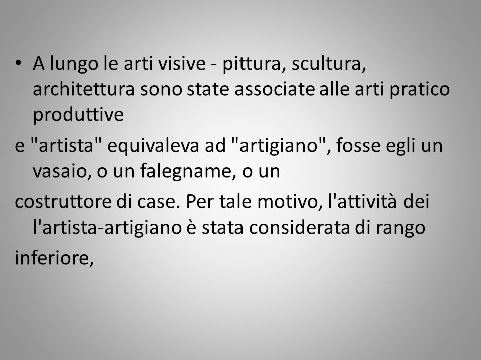 Per Aristotele l arte è imitazione della realtà.