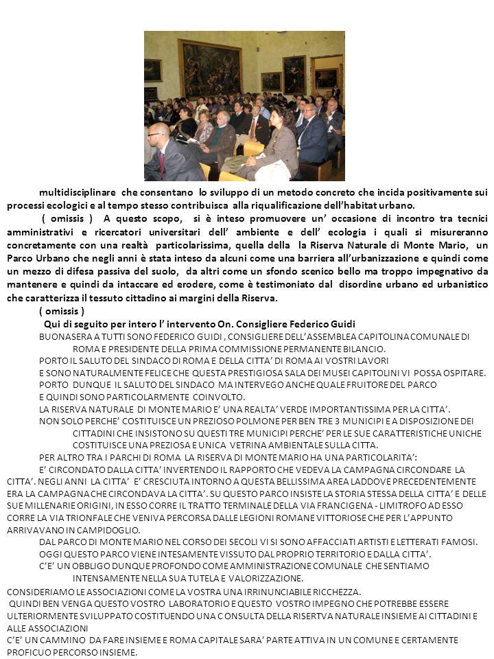 Arch.Valter Macchi, Urbanista e consulente dell Assessore all Urbanistica della Regione Lazio, On.