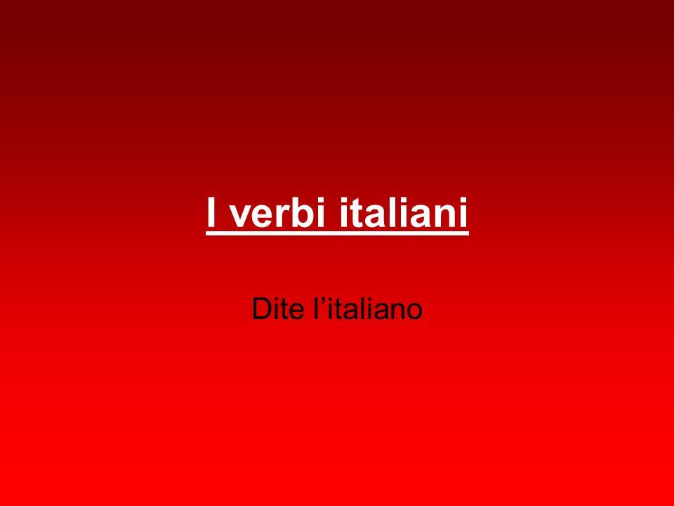 I verbi italiani Dite litaliano