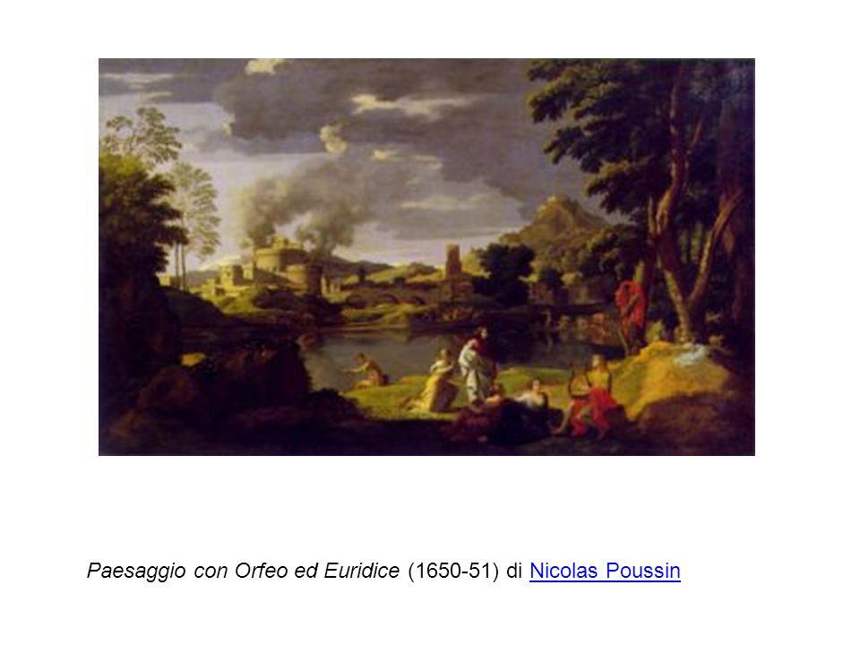 Paesaggio con Orfeo ed Euridice (1650-51) di Nicolas PoussinNicolas Poussin