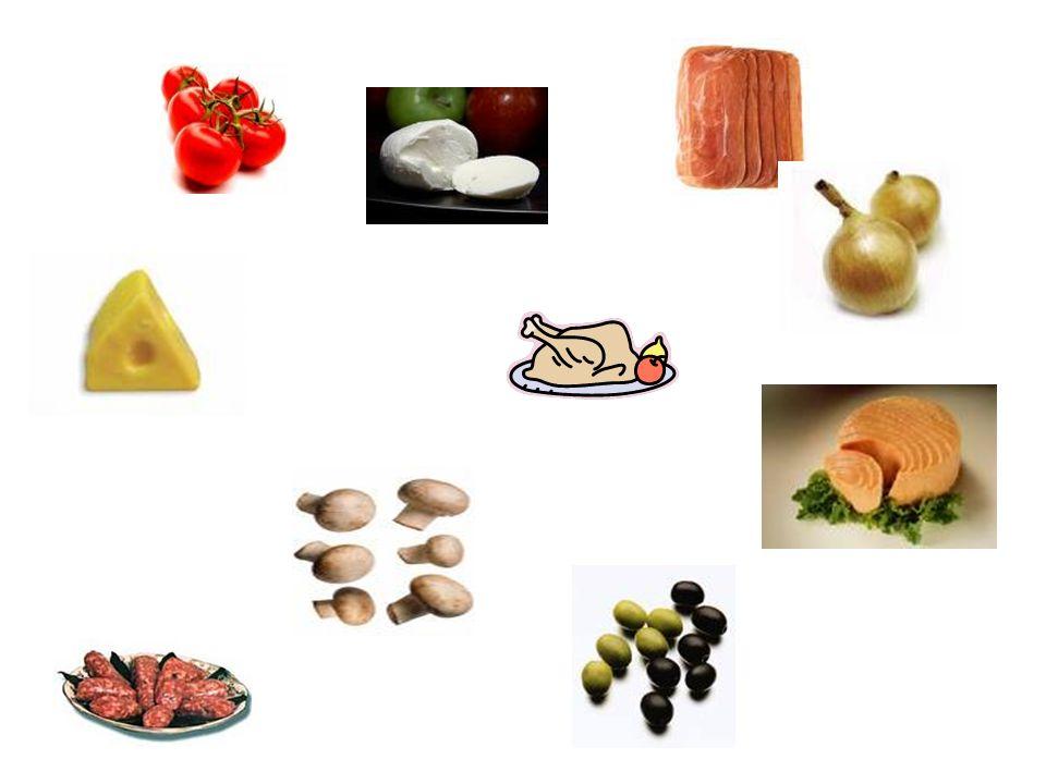 il formaggio i pomodori il prosciutto le olive la cipolla la mozzarella il tonno i funghi olives cheese tomatoes ham onion mozzarella tuna mushrooms