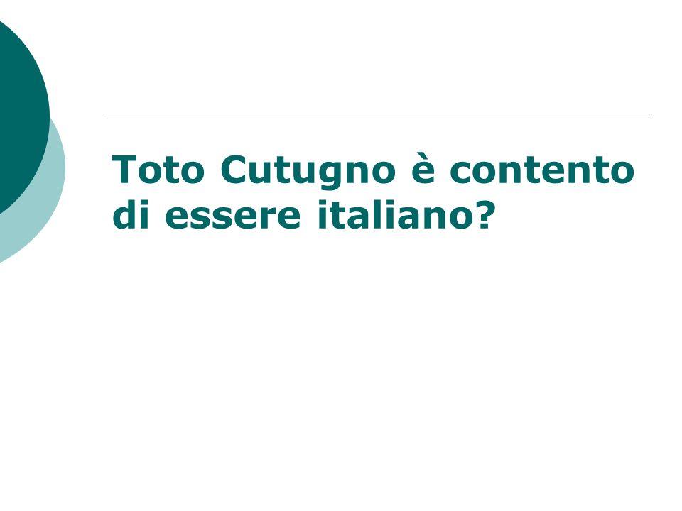 Toto Cutugno è contento di essere italiano?