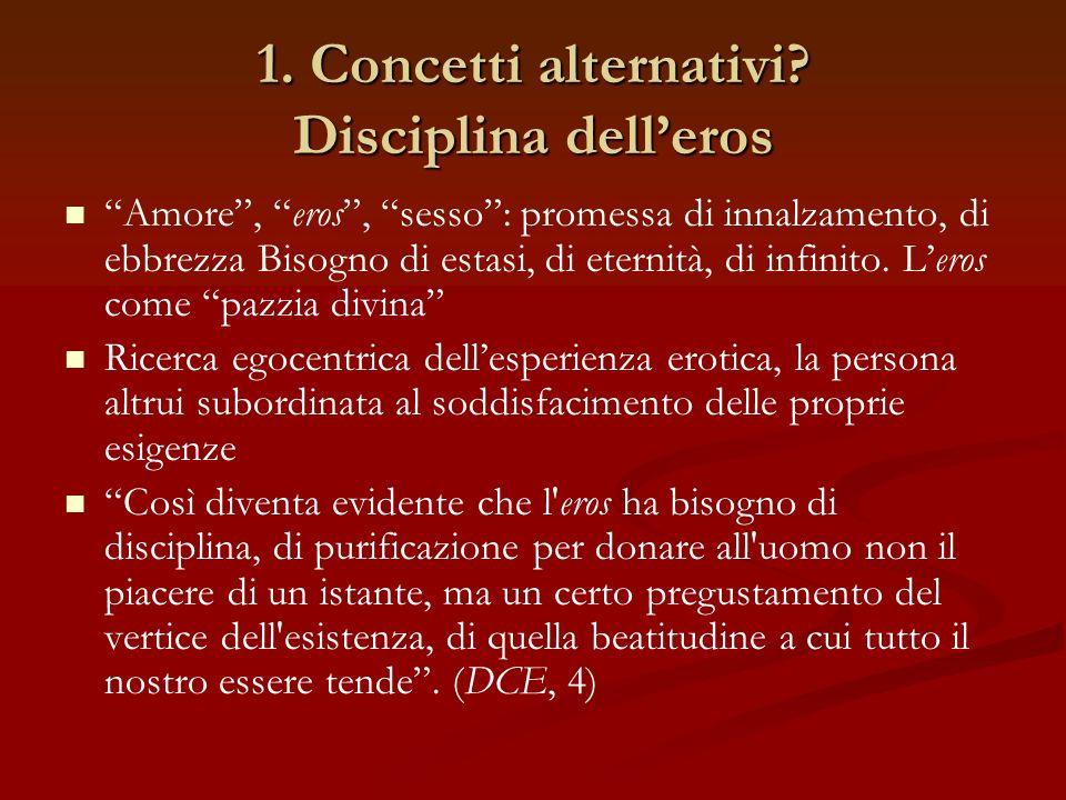 1. Concetti alternativi.