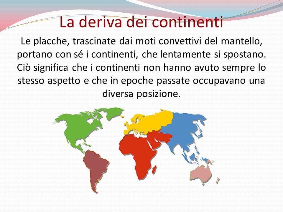Le placche, trascinate dai moti convettivi del mantello, portano con sé i continenti, che lentamente si spostano. Ciò significa che i continenti non h