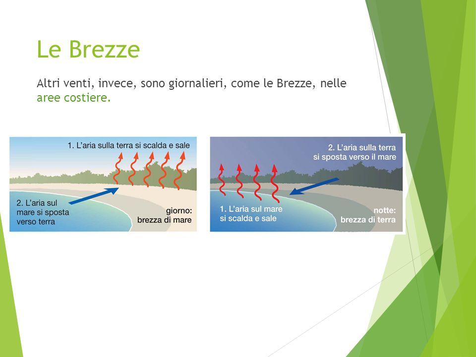 Le Brezze Altri venti, invece, sono giornalieri, come le Brezze, nelle aree costiere.