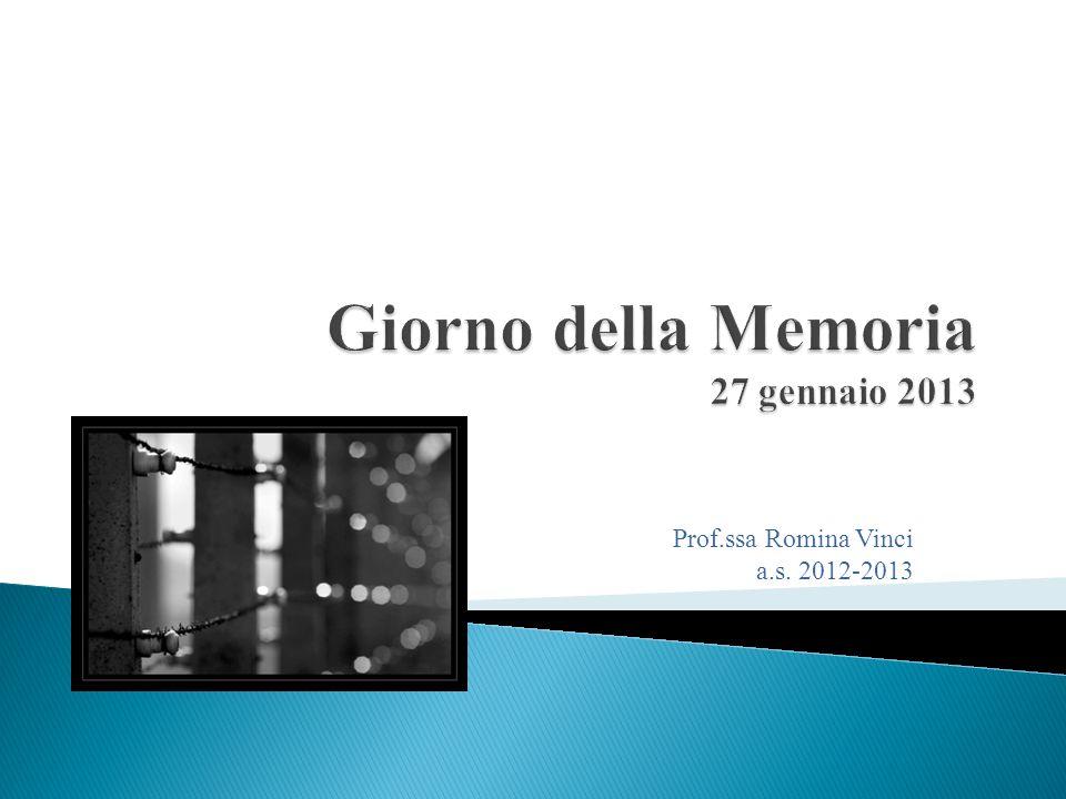 Prof.ssa Romina Vinci a.s. 2012-2013