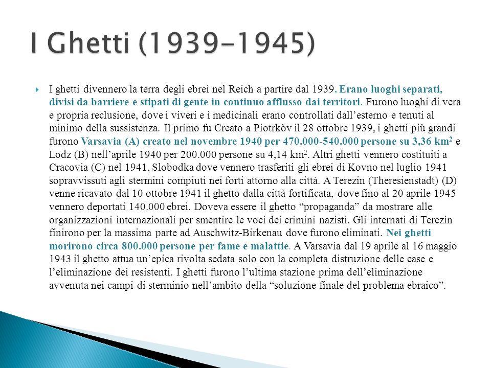 I ghetti divennero la terra degli ebrei nel Reich a partire dal 1939. Erano luoghi separati, divisi da barriere e stipati di gente in continuo affluss