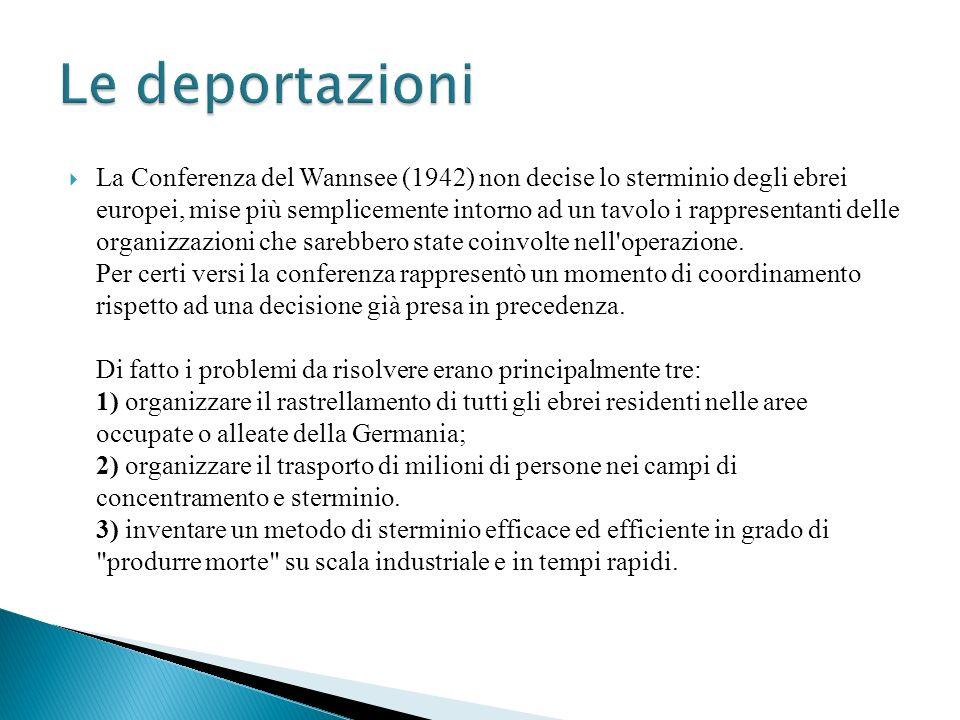 La Conferenza del Wannsee (1942) non decise lo sterminio degli ebrei europei, mise più semplicemente intorno ad un tavolo i rappresentanti delle organ
