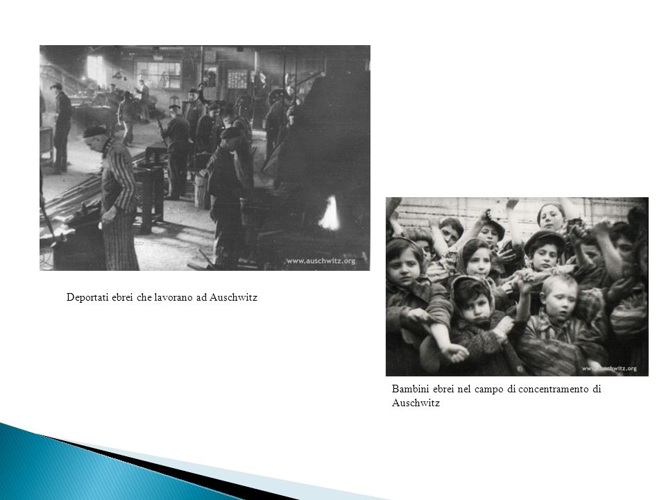 Deportati ebrei che lavorano ad Auschwitz Bambini ebrei nel campo di concentramento di Auschwitz
