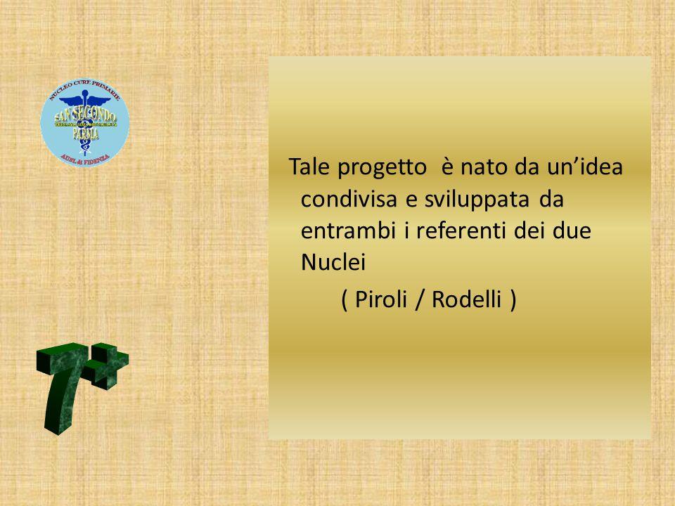 Tale progetto è nato da unidea condivisa e sviluppata da entrambi i referenti dei due Nuclei ( Piroli / Rodelli )
