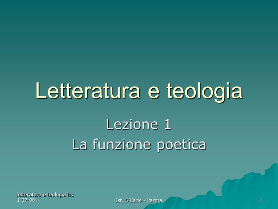 letteratura e teologia lez 1 07-08 Ist.