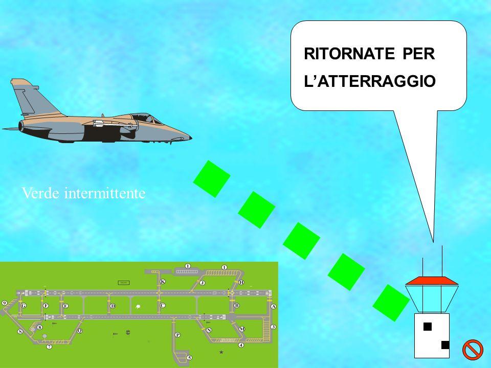 RITORNATE PER LATTERRAGGIO Verde intermittente