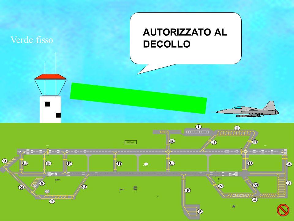 AUTORIZZATO AL DECOLLO Verde fisso