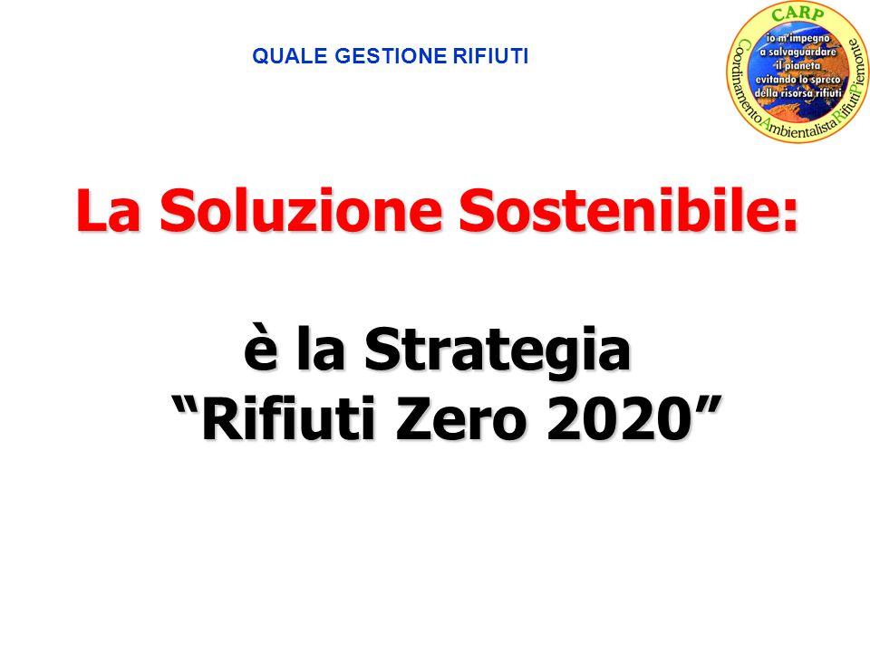 QUALE GESTIONE RIFIUTI La Soluzione Sostenibile: è la Strategia Rifiuti Zero 2020