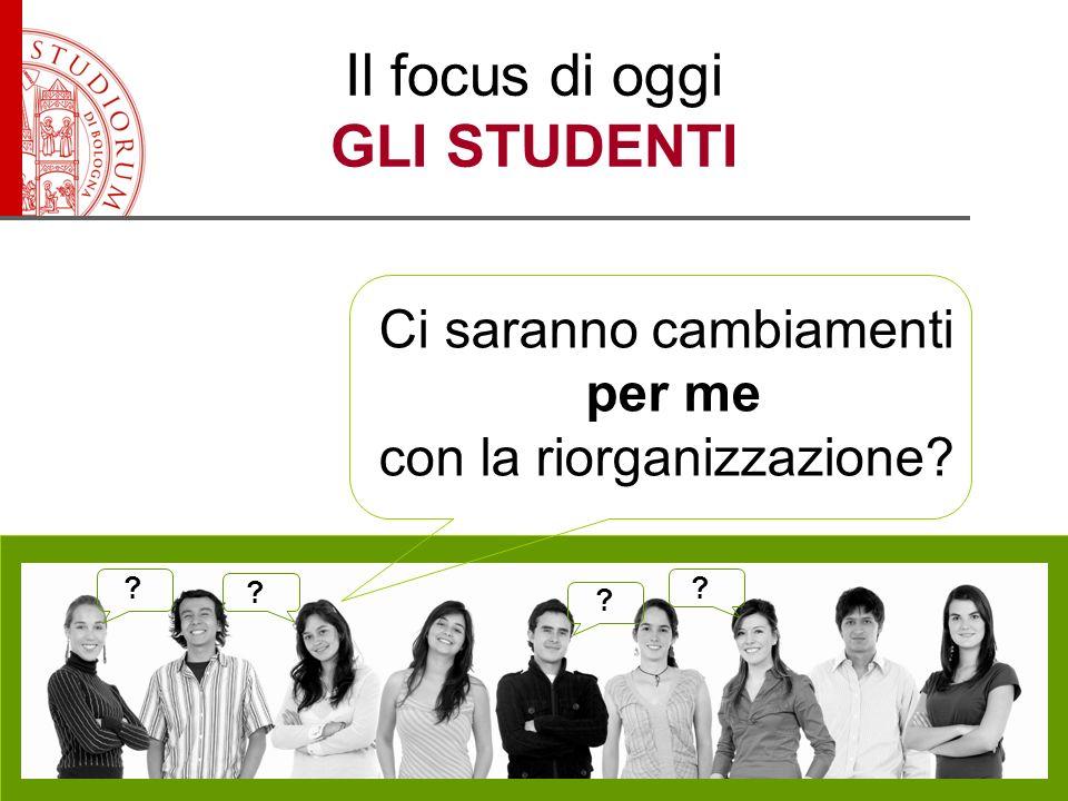 Il focus di oggi GLI STUDENTI Ci saranno cambiamenti per me con la riorganizzazione