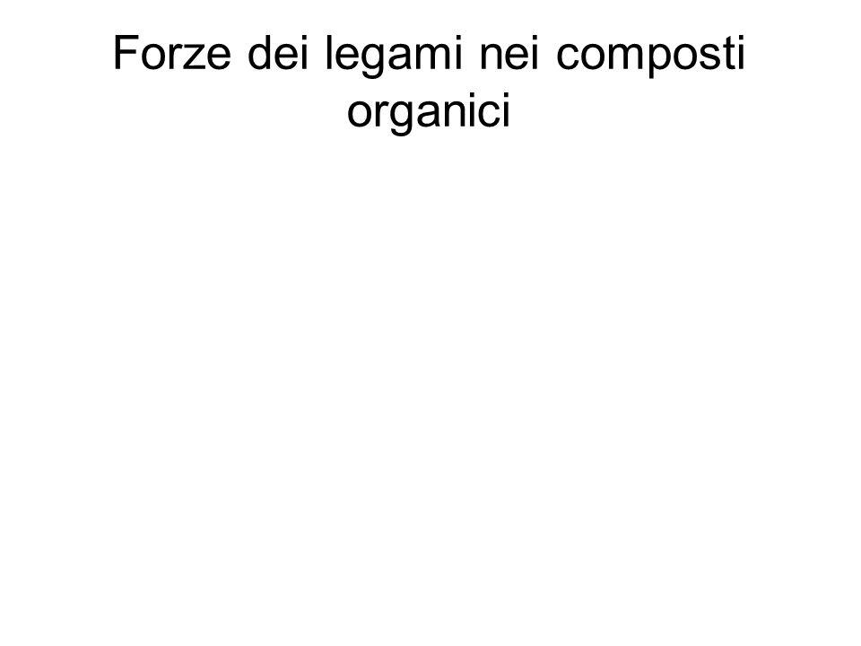 Forze dei legami nei composti organici