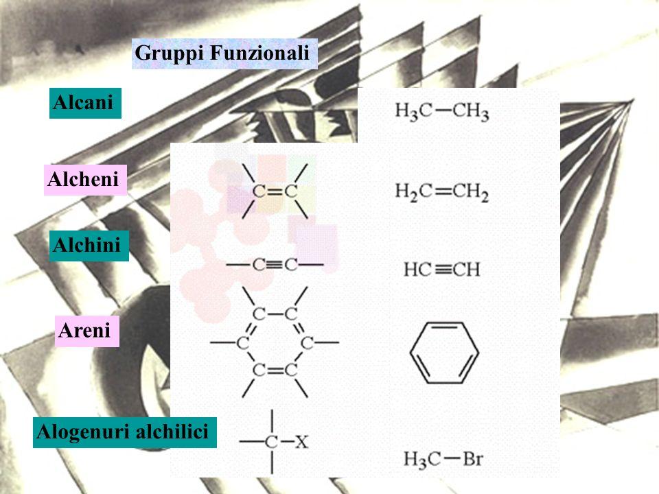 Gruppi Funzionali Alcani Alcheni Alchini Areni Alogenuri alchilici