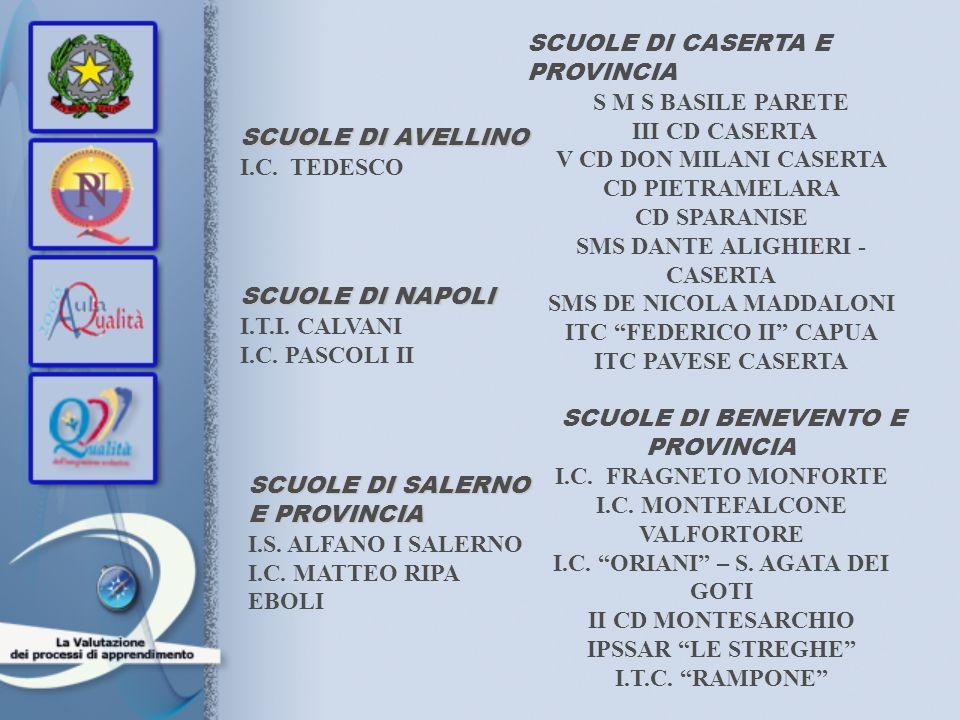 SCUOLE DI CASERTA E PROVINCIA S M S BASILE PARETE III CD CASERTA V CD DON MILANI CASERTA CD PIETRAMELARA CD SPARANISE SMS DANTE ALIGHIERI - CASERTA SM