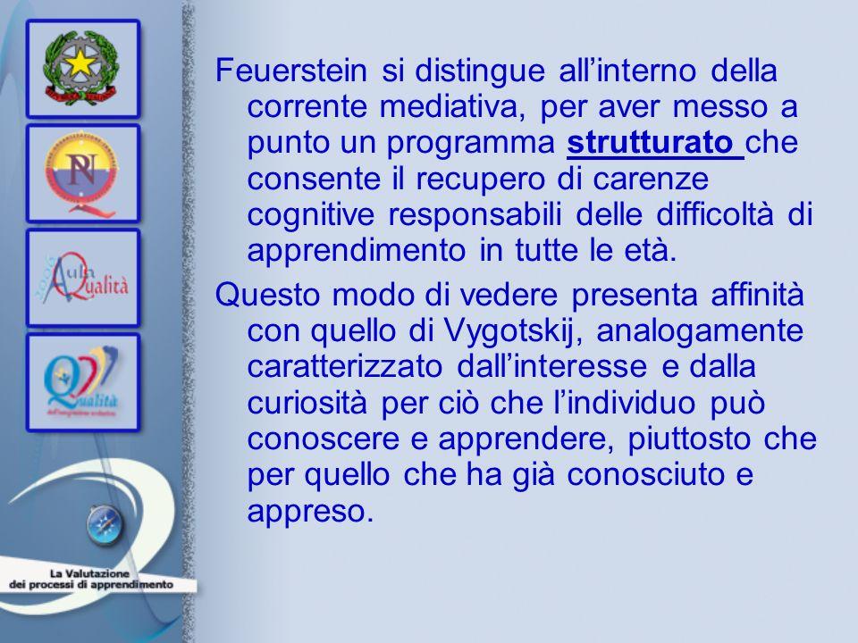 Feuerstein si distingue allinterno della corrente mediativa, per aver messo a punto un programma strutturato che consente il recupero di carenze cogni