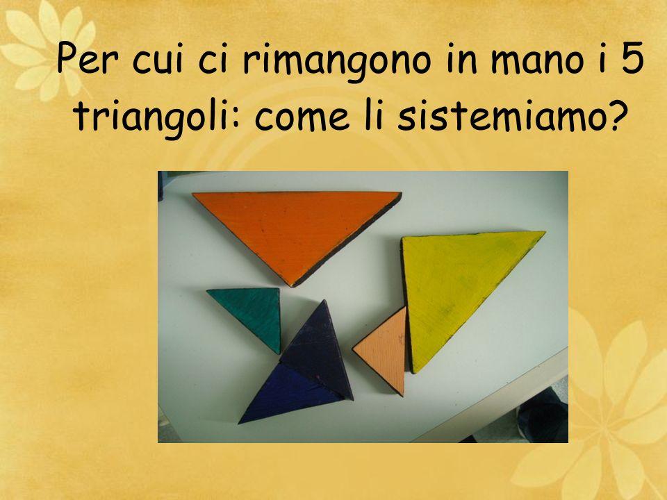 Per cui ci rimangono in mano i 5 triangoli: come li sistemiamo?