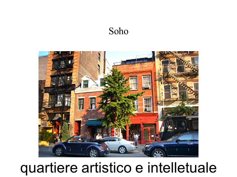 Soho quartiere artistico e intelletuale