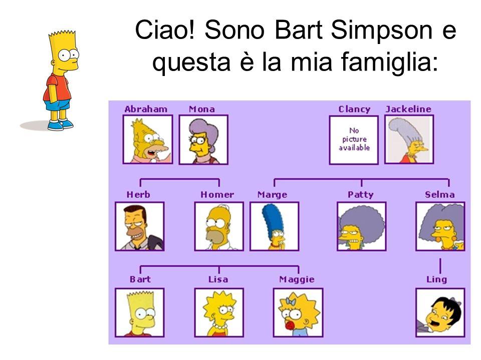 Ciao! Sono Bart Simpson e questa è la mia famiglia: