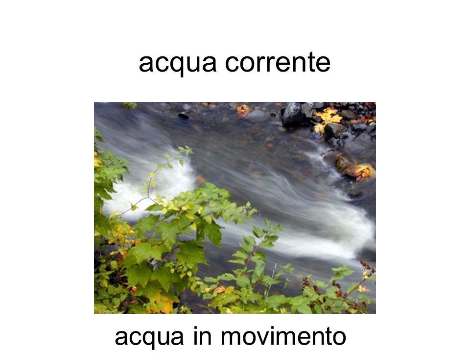 acqua corrente acqua in movimento
