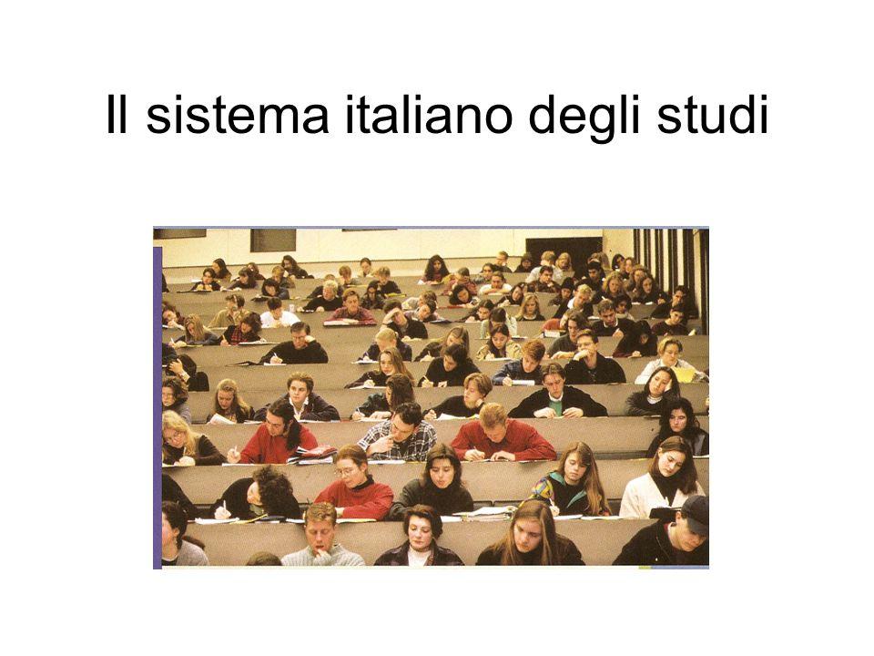 Il sistema italiano degli studi