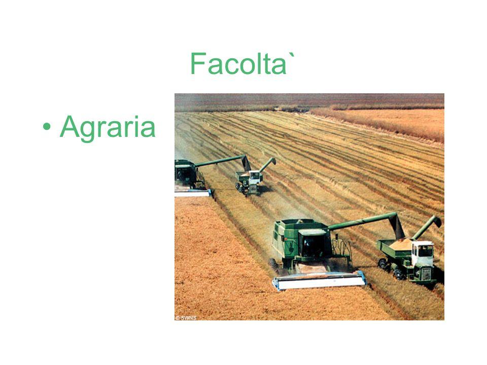 Facolta` Agraria