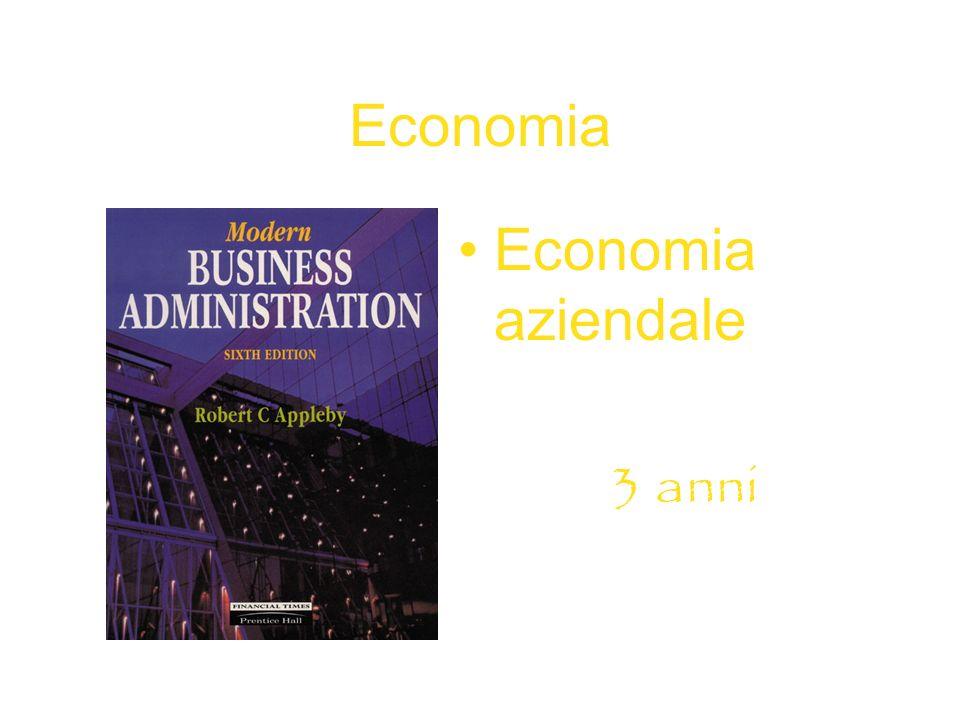 Economia Economia aziendale 3 anni