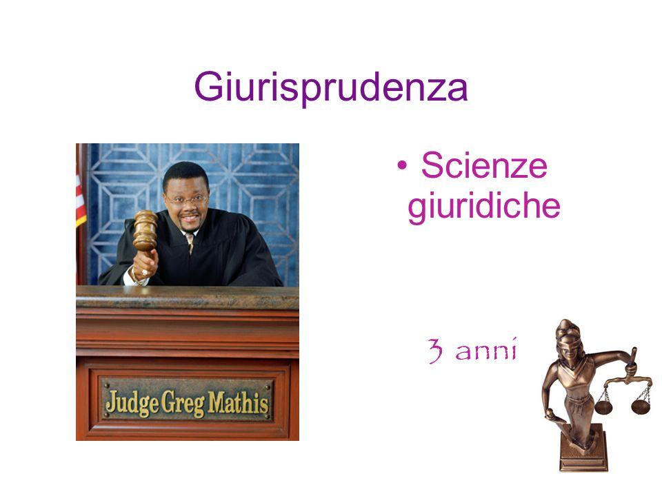 Giurisprudenza Scienze giuridiche 3 anni