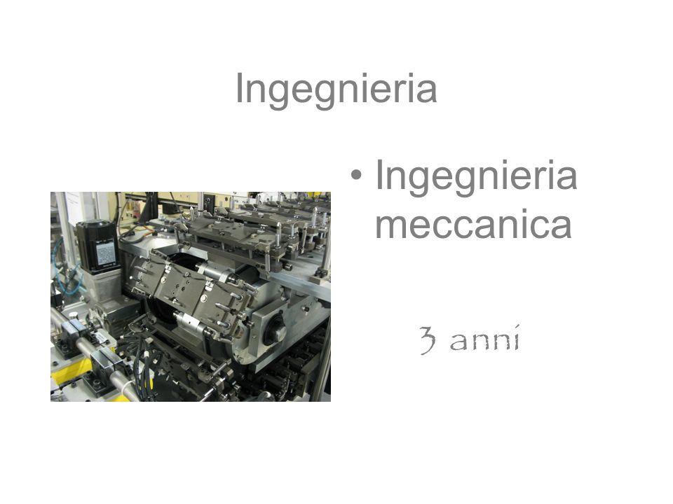 Ingegnieria Ingegnieria meccanica 3 anni