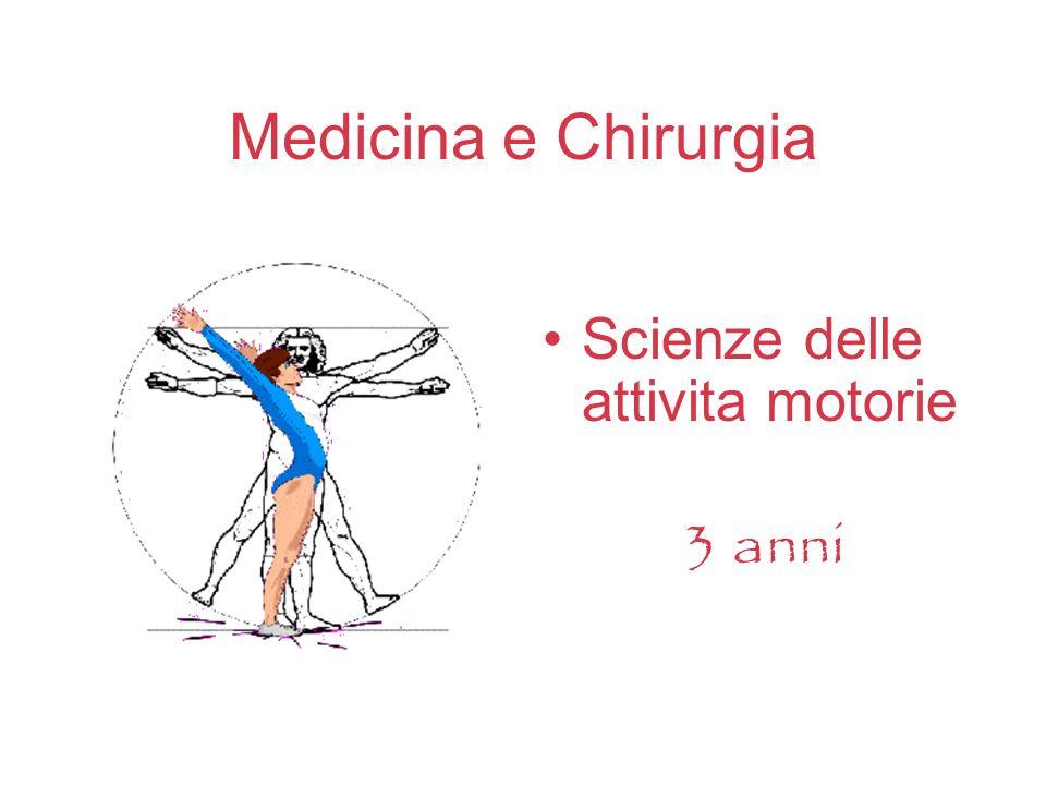 Medicina e Chirurgia Scienze delle attivita motorie 3 anni