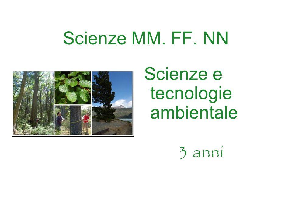 Scienze MM. FF. NN Scienze e tecnologie ambientale 3 anni