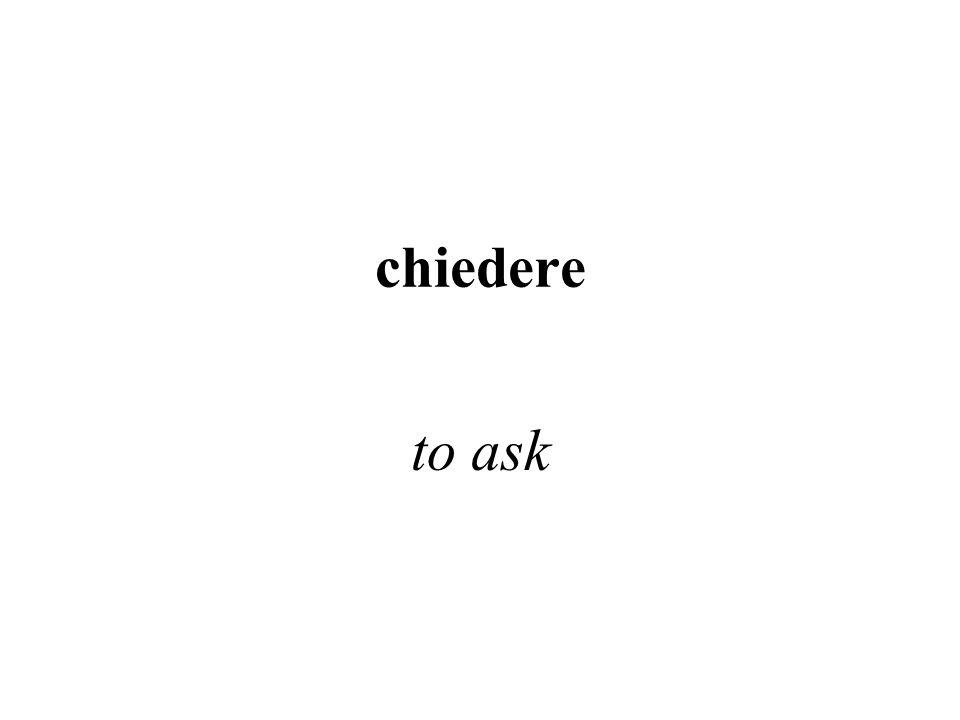 chiudere to close