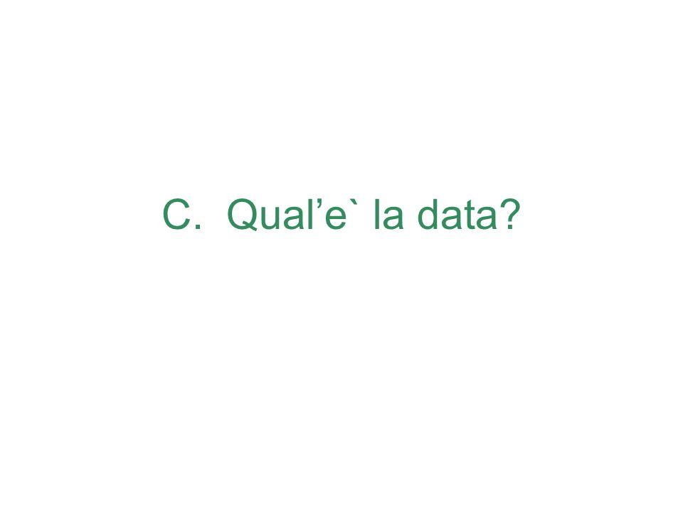 C. Quale` la data?