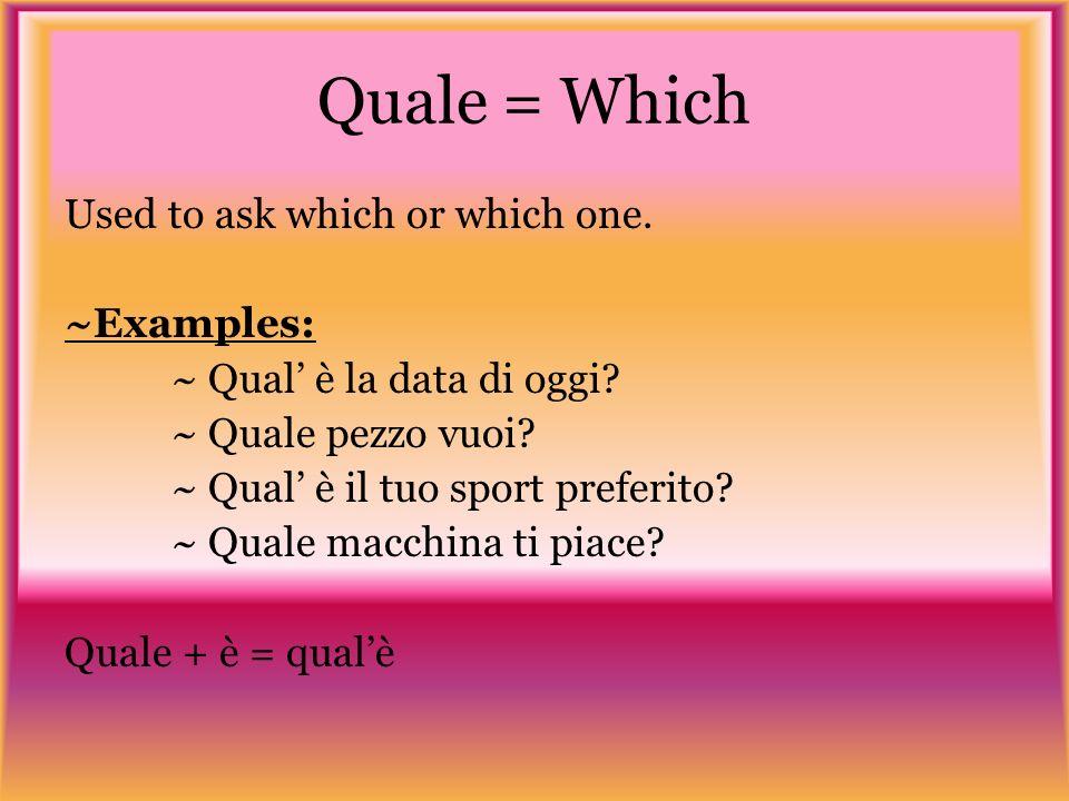 È toca voi.Write the following questions in Italiano.