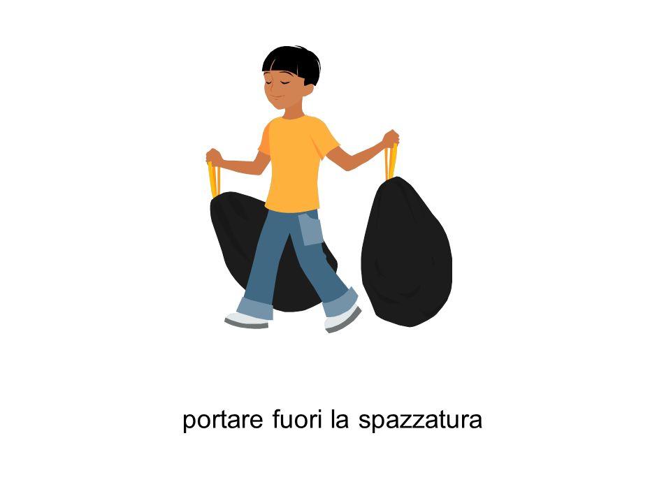 portare fuori la spazzatura