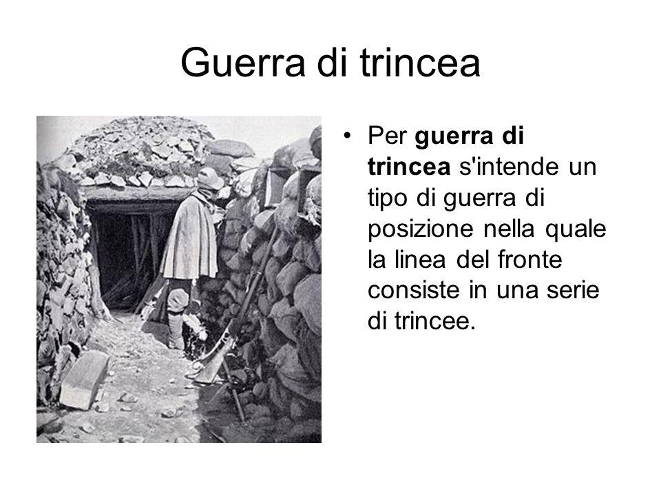 i problemi della guerra di trincea erano, nell ordine: il freddo, l immobilità, il fango, i pidocchi, il nemico e la mancanza di igiene.
