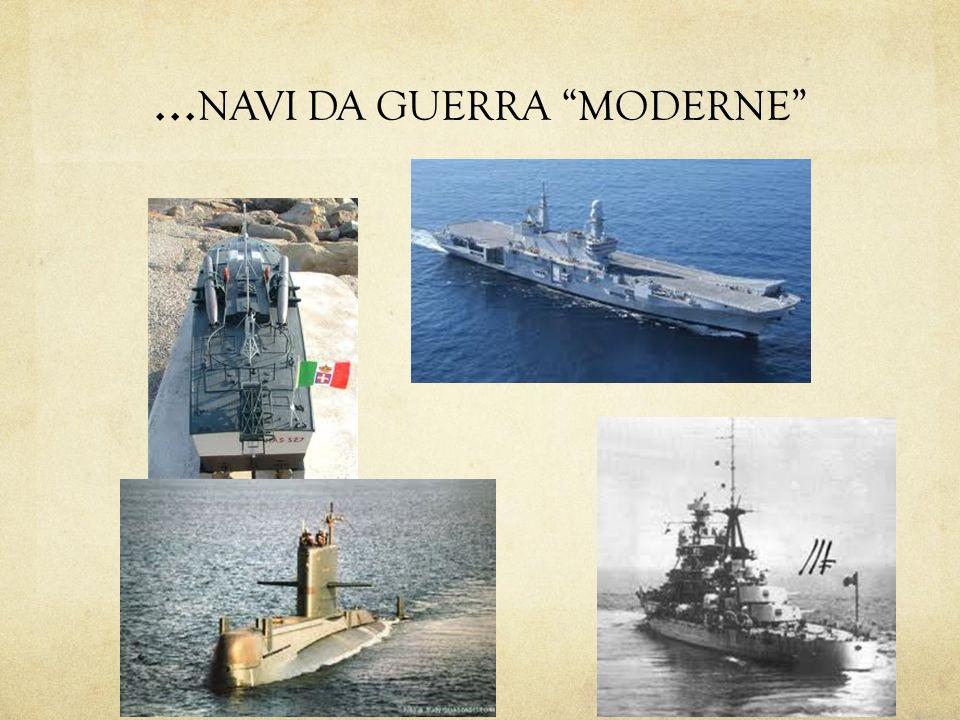 Navi da guerra dal 1850 al 2000 Dal 1850 sino al 1930 le navi da guerra erano protette da pesanti corazze in acciaio e avevano come ruolo principale quello di attaccare le navi da guerra nemiche con il fuoco di un arsenale di cannoni.