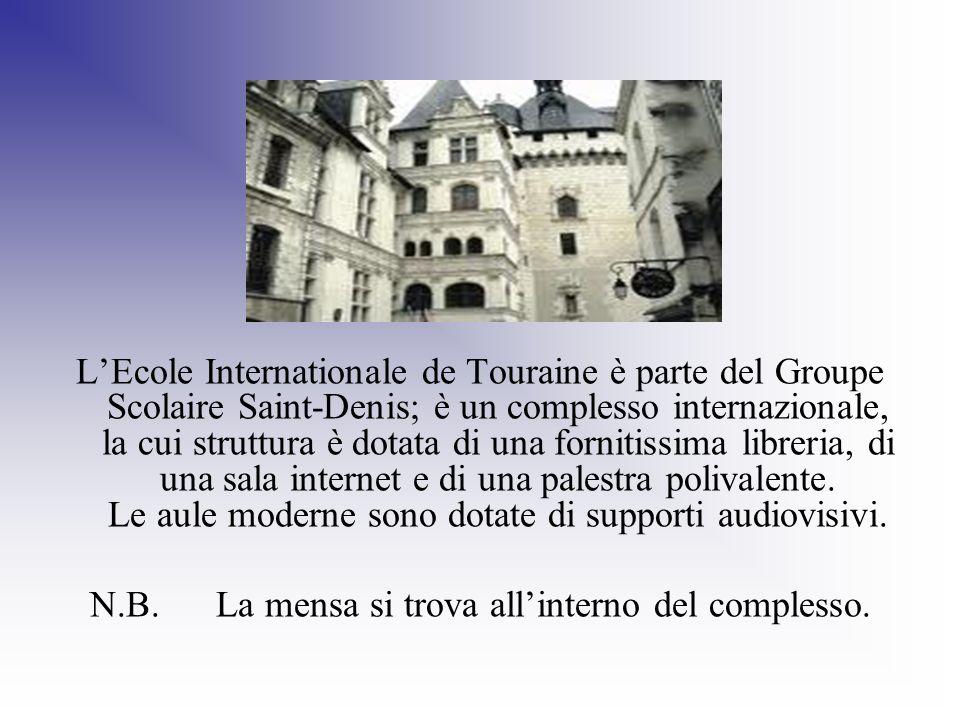 LEcole Internationale de Touraine è parte del Groupe Scolaire Saint-Denis; è un complesso internazionale, la cui struttura è dotata di una fornitissim